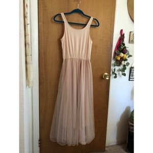 Pink Storets Tulle Tank Dress